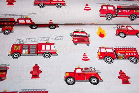 PŁÓTNO BAWEŁNIANE FIRE TRUCK