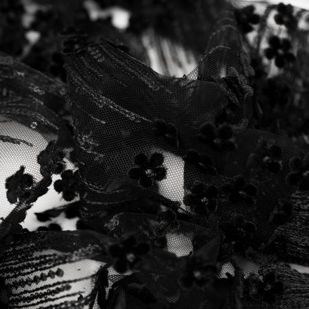 KORONKA WIZYTOWA BLACK FLOWERS