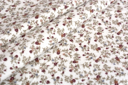 FLANELA FANCY FLOWERS BURGUNDY