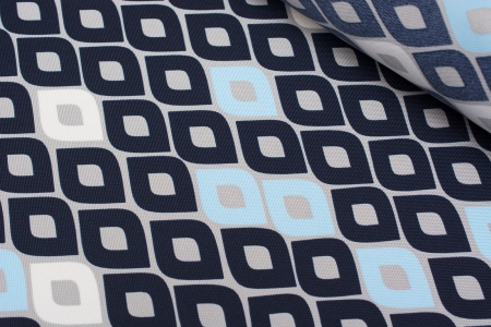 TKANINA MARKIZOWA DIAMONDS BLUE/WHITE/NAVY