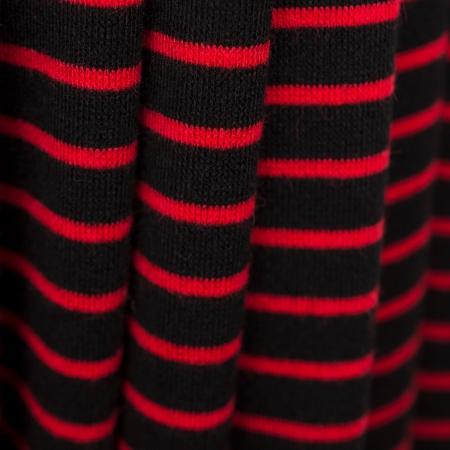 DZIANINA WISKOZOWA MOHITO STRIPES RED&BLACK