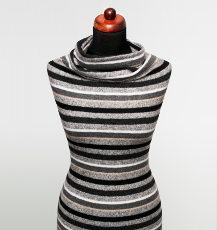 DZIANINA ANGORKA STRIPES GREY/BLACK/BEIGE