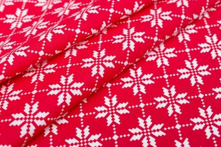 PŁÓTNO BAWEŁNIANE SNOW PIXEL WHITE/RED