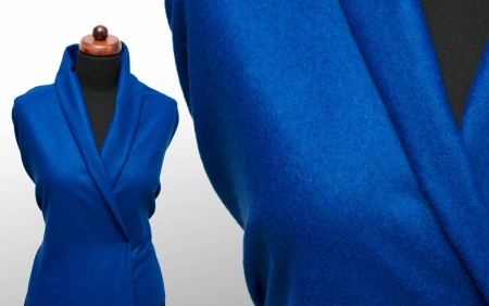 TKANINA LUCCA STRONG BLUE