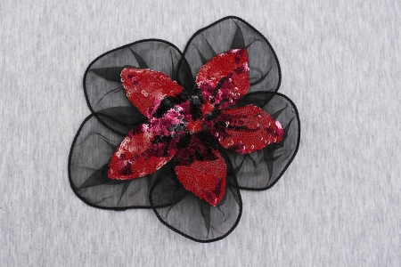 APLIKACJA RED/BLACK FLOWER