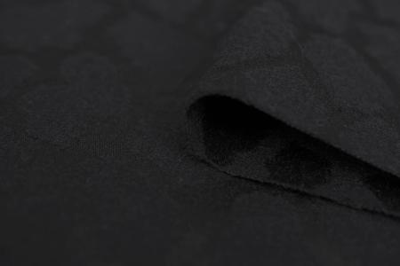 TKANINA BLACK LEOPARD TEXTURE