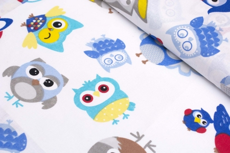 TKANINA BAWEŁNIANA FESTIVAL BLUE OWL