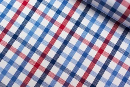 TKANINA KOSZULOWA KRATKA RED/BLUE