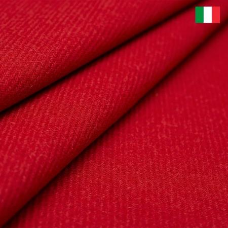 TKANINA WEŁNIANA ITALIA KLASYCZNA CZERWIEŃ