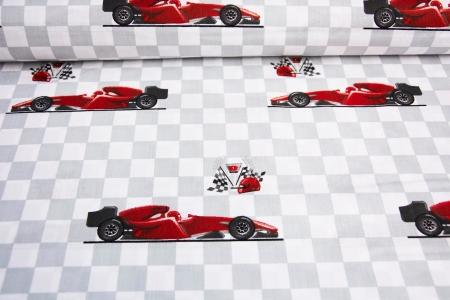 PŁÓTNO BAWEŁNIANE RACING CAR