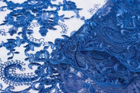 KORONKA GIPIUROWA Z CEKINAMI PRINCESS BLUE