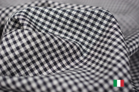 TKANINA GARNITUROWA BLACK & WHITE GINGHAM