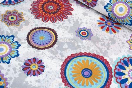 TKANINA DEKORACYJNA COLORFUL FLOWERS