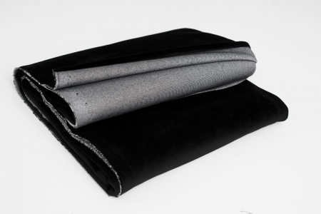 COTTON VELVET JET BLACK