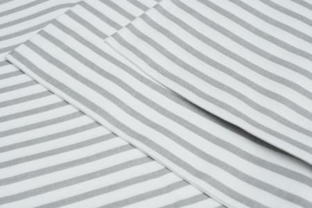 PŁÓTNO BAWEŁNIANE PASY SZARE (0,6 cm)