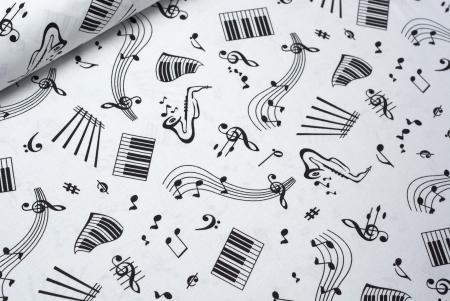 TKANINA BAWEŁNIANA MUSIC