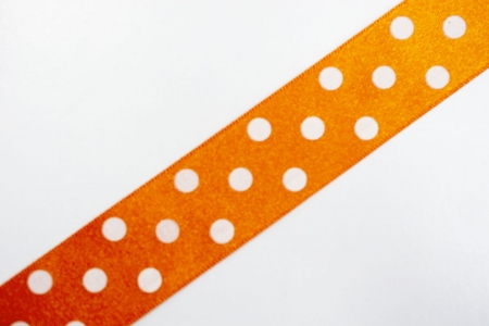 TAŚMA ORANGE DOTS