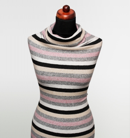 DZIANINA ANGORKA STRIPES ECRU/GREY/PINK