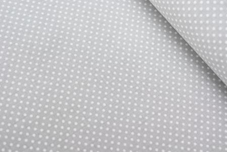 PŁÓTNO BAWEŁNIANE BIAŁY MACZEK JASNO-SZARE TŁO (2mm)