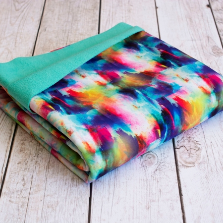 TKANINA SOFTSHELL COLORFUL SPLASH