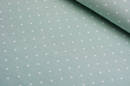 DZIANINA SINGIEL TINY DOTS MINT