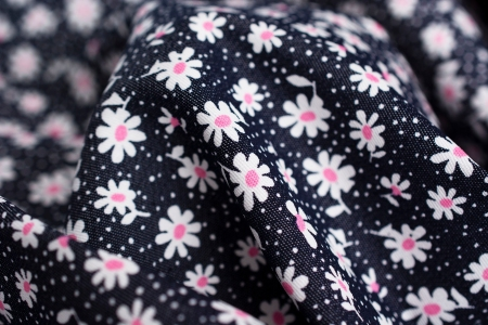 JEANS WHITE FLOWERS&DOTS