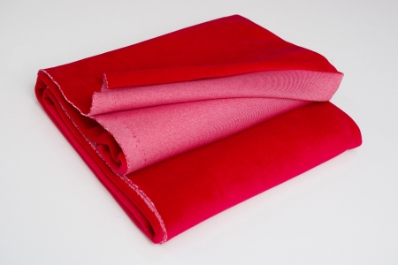 COTTON VELVET TRUE RED