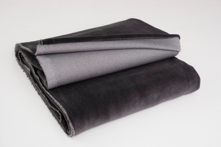 COTTON VELVET STEEL GRAY