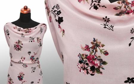 TKANINA SZYFON ADOBE ROSE FLOWERS