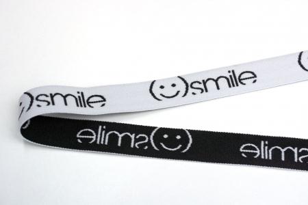 TAŚMA GUMOWA SMILE BLACK&WHITE