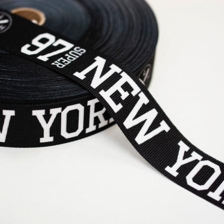 TAŚMA RYPSOWA NEW YORK BLACK&WHITE