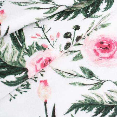FLANELA GARDEN FLOWER WHITE