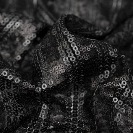 SIATKA ELASTYCZNA Z CEKINAMI BLACK MAT STRIPES