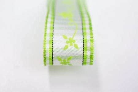 TAŚMA GREEN FLOWERS
