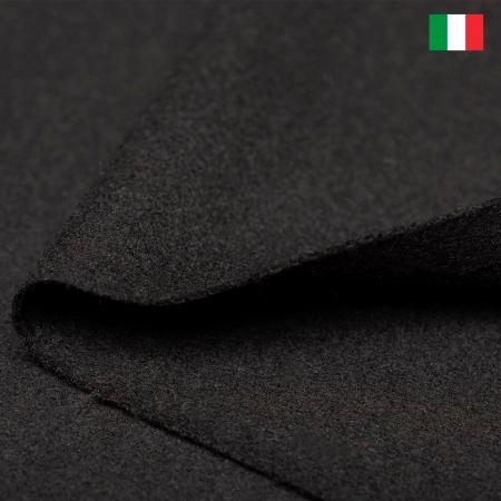TKANINA WEŁNIANA ITALIA KLASYCZNA CZERŃ