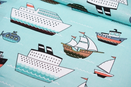 PŁÓTNO BAWEŁNIANE TRAVEL SHIPS