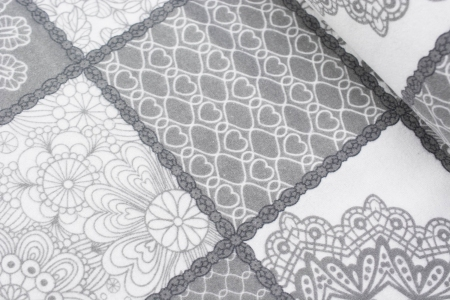 FLANELA GREY PATCHWORK