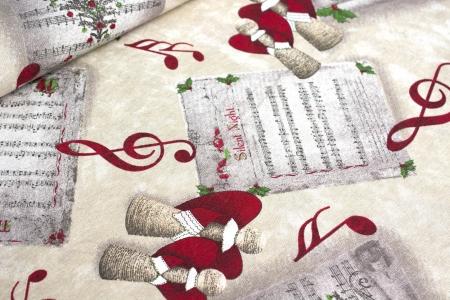 TKANINA DEKORACYJNA CHRISTMAS SONG CREAM