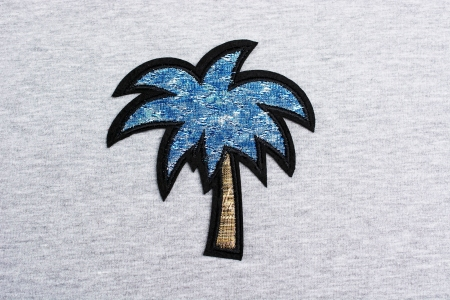 APLIKACJA PALM BLUE/GOLD SHINING