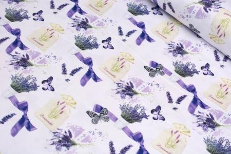 TKANINA DEKORACYJNA FLOWERS & BUTTERFLY