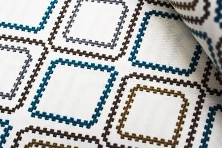TKANINA DEKORACYJNA BLUE/BROWN DIAMOND